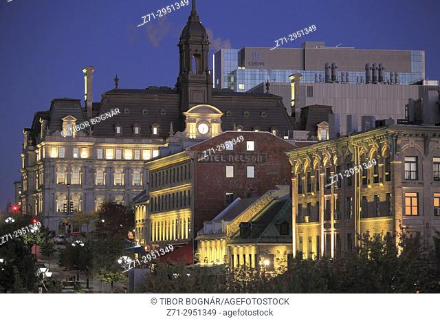 Canada, Quebec, Montreal, City Hall, Place Jacques Cartier,