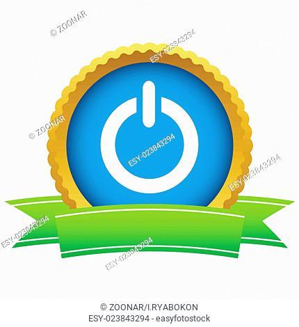 Gold power logo