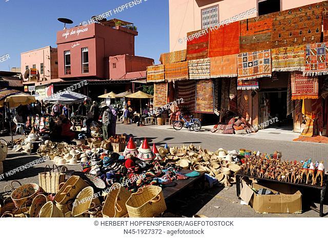 Marrakech/Marrakesh; Rahba Lakdima Square; Medina; Souk; Morocco