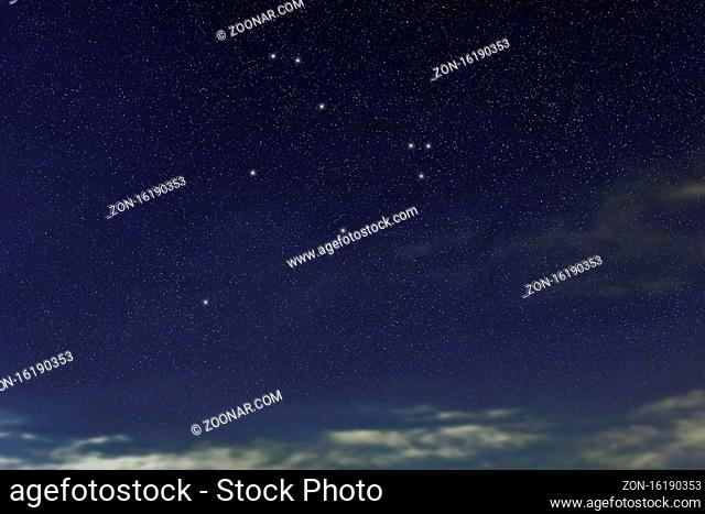 Cepheus star constellation, Night sky, Cluster of stars, Deep space, King Cepheusconstellation