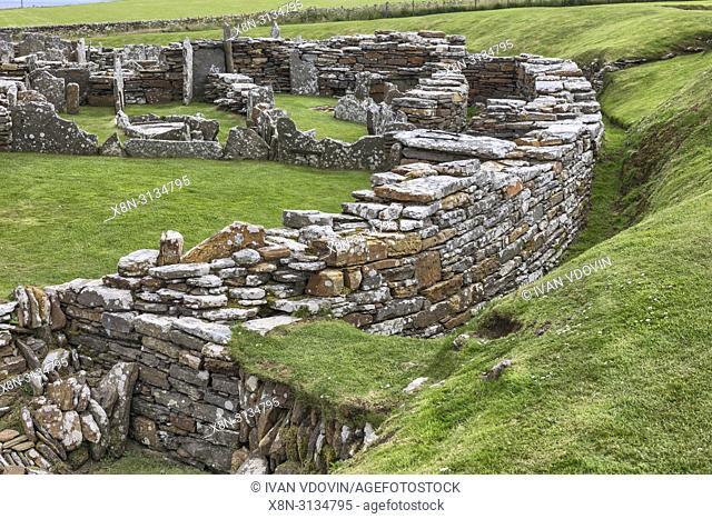 Broch of Gurness, Mainland, Orkney islands, Scotland, UK