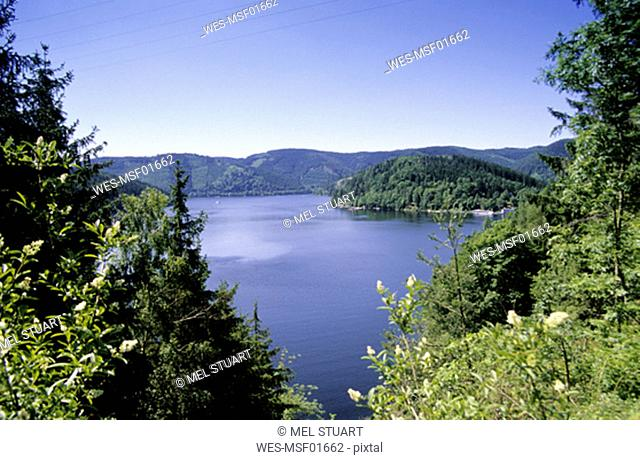 View of the dam Hohenwarte-Talsperre, Thuringia, Germany