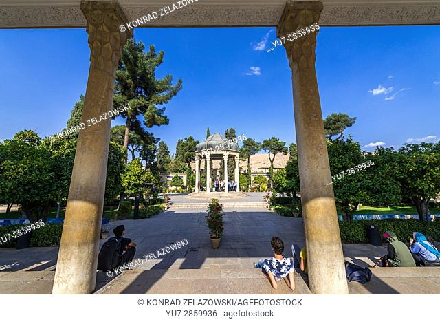 Tomb of Hafez memorial hall called Hafezieh in Shiraz city, capital of Fars Province in Iran