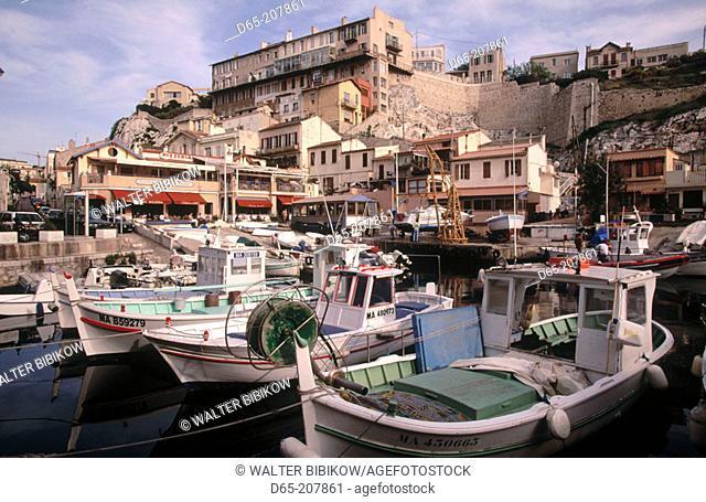 Fishing boats. Vallon des Auffes. Marseille. France