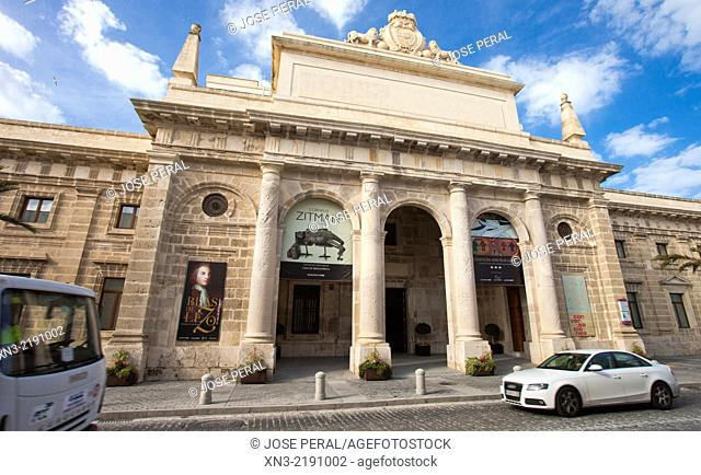 Casa de Iberoamerica, Former Real Prison was built in 1794, antigua Carcel Real, it hosts exhibitions and other cultural events, Cádiz City, Andalusia, Spain
