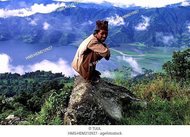 Nepal, Gandaki Zone, Kaski District, Annapurna area, Pokhara, Phewa Tal lake