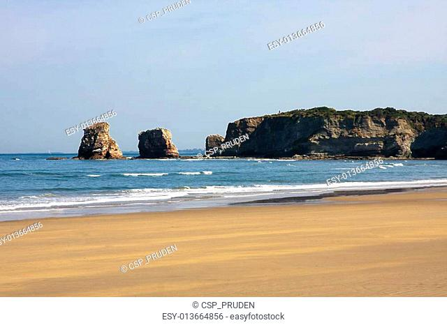 photos and postcards of the town of Hendaye, France