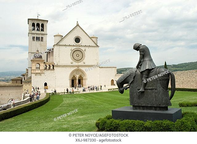 Basilica of St  Francis, Assisi  The Franciscan monastery Sacro Convento and the lower and upper church Basilica inferiore e superiore of St Francis were begun...