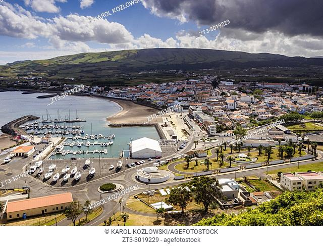 Praia da Vitoria, elevated view, Terceira Island, Azores, Portugal