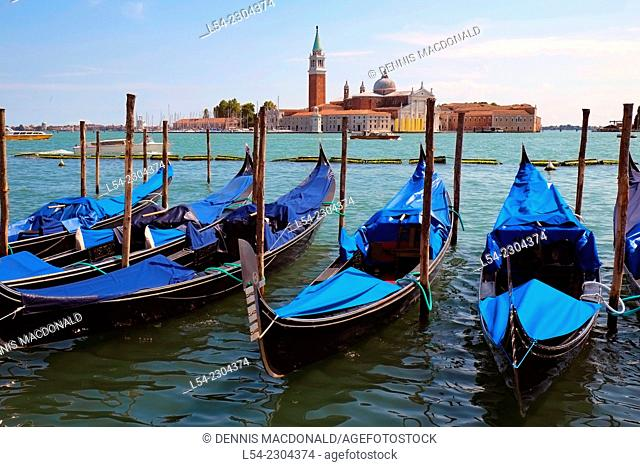 Gondolas Venice Italy IT Europe EU Adriatic Sea Grand Canal