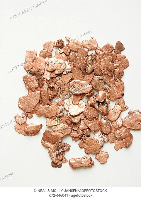 Copper pieces mined in Montana, USA