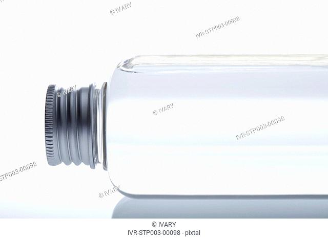 Close-up Of Bottle Part With White Background