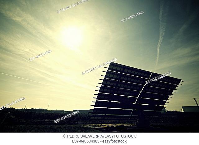 Photovoltaic panels for renewable electric production, Zaragoza province, Aragon, Spain
