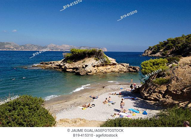 S'Illot beach, Pollença bay. Alcúdia. Majorca, Balearic Islands. Spain