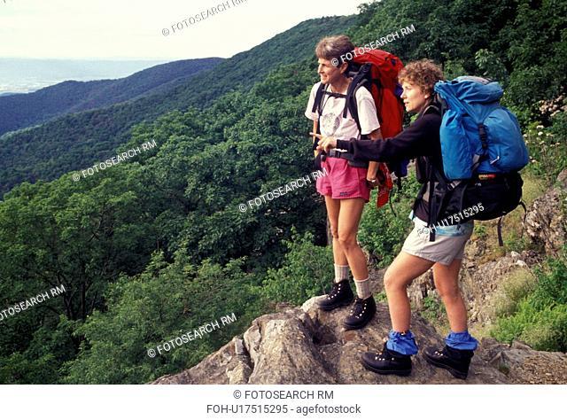 hiking, hikers, backpacking, Shenandoah National Park, Blue Ridge, Appalachian Mountains, Appalachian Trail, National Scenic Trail, Virginia