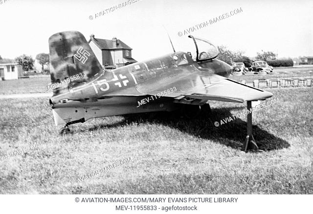 Luftwaffe Messerschmitt Me-163 Komet Parked at an Airshow in May 1950
