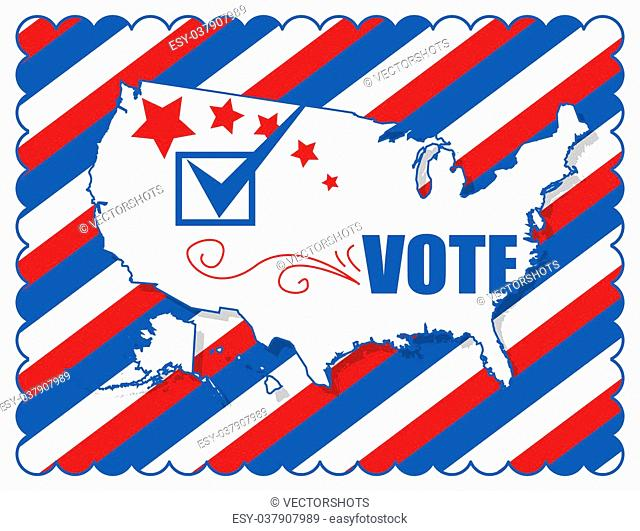 Background - Election Day Vector Illustration