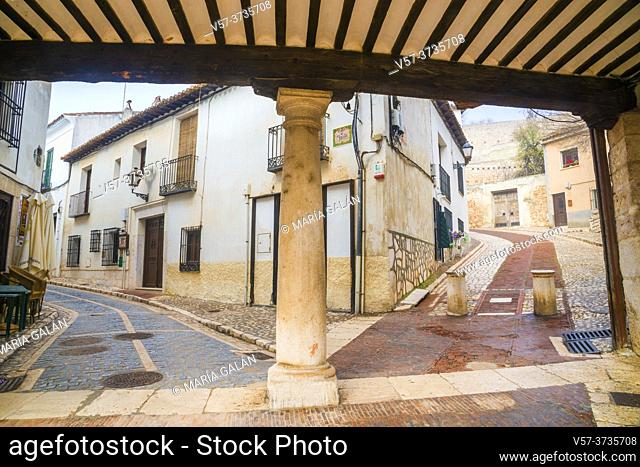 Two streets from the Main Square. Chinchon, Madrid province, Spain