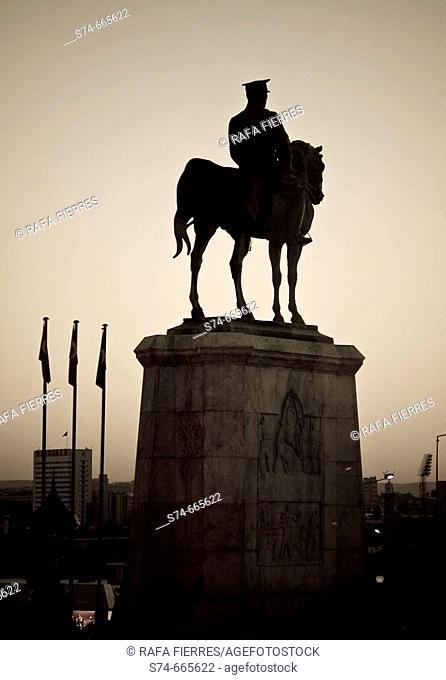 Atatürk (founder of the Republic of Turkey) statue. Ankara. Turkey