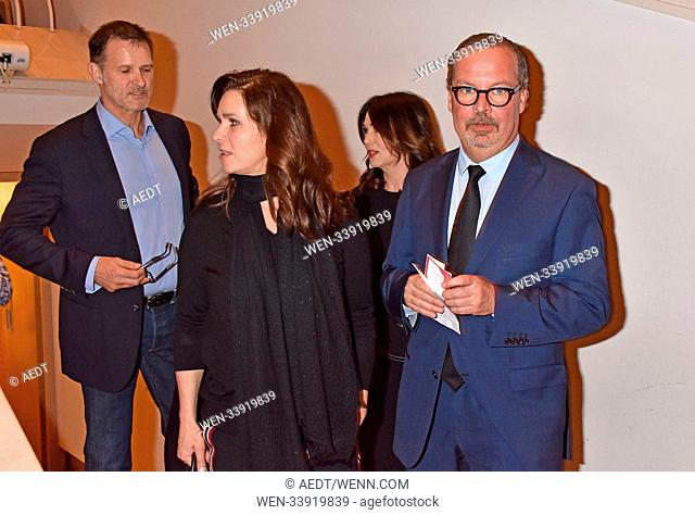 Heiko Kiesow, Katarina Witt, Iris Berben, Christian Schertz at the book premiere Strafe by Ferdinand von Schirach at Kammermusiksaal Philharmonie