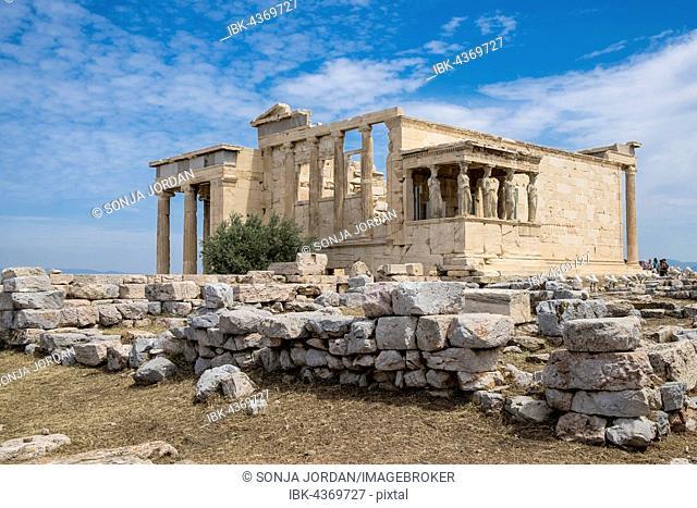 Erechtheion Temple with Caryatids, Caryatid Porch, Acropolis, Athens, Greece