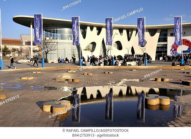 Fira de Barcelona trade fair ground, Gran Via venue designed by architect Toyo Ito, L'Hospitalet de Llobregat, Barcelona, Catalonia, Spain