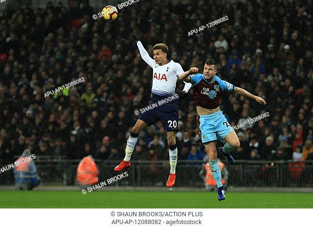 2018 EPL Premier League Football Tottenham Hotspur v Burnley Dec 15th. 15th December 2018, Wembley Stadium, London England; EPL Premier League football