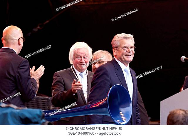 Joachim Gauck , Federal President of Germany, at the Opening of the Kiel Week 2014, June, 21th