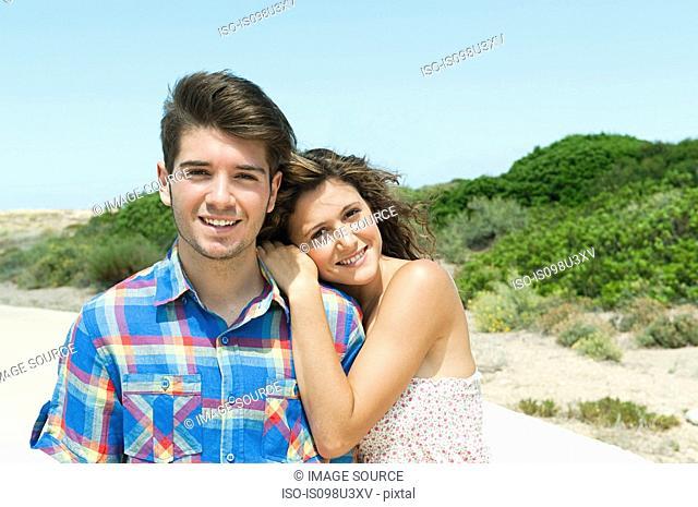 Affectionate young couple, portrait