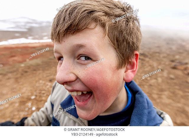 Young British Tourist, Myvatn, iceland