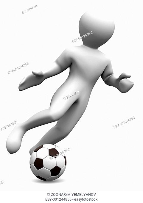 Man with ball. 3d