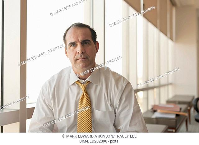 Serious Caucasian businessman