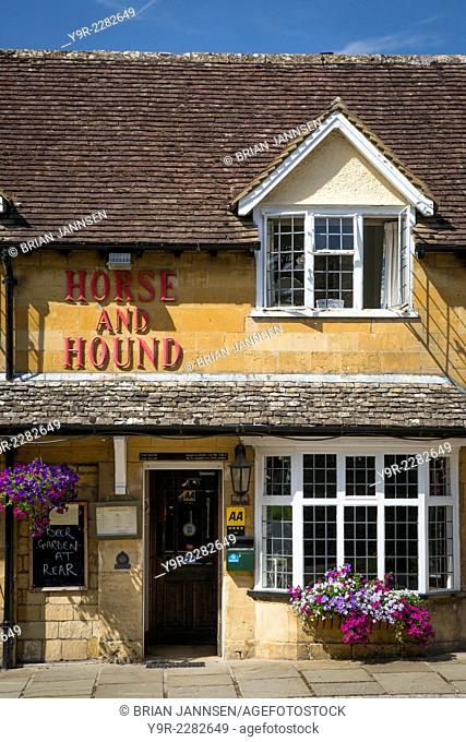 Horse and Hound Pub and Inn, Broadway, the Cotswolds, England