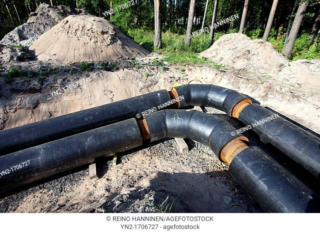 Joints in a underground district heating pipeline  Location Oulu Finland Scandinavia Europe