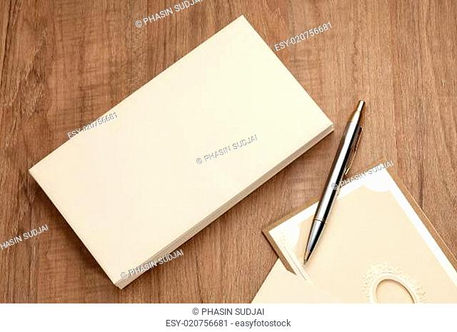 Blank envelop with card