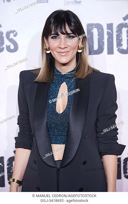 Cecilia Gessa attends 'Adios' premiere at Capitol Cinema on November 19, 2019 in Madrid, Spain