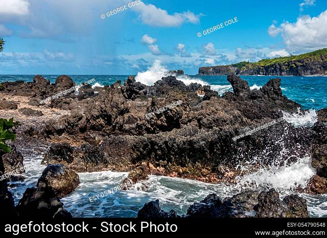A view of Keanae Point in Maui, Hawaii