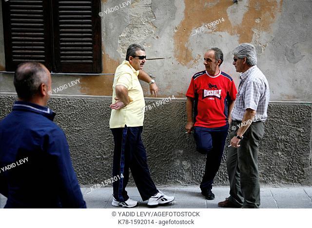 Street scene, Sassari, Sardinia, Italy