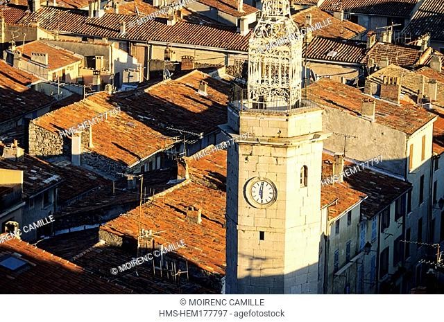 France, Var, Gonfaron, campanile