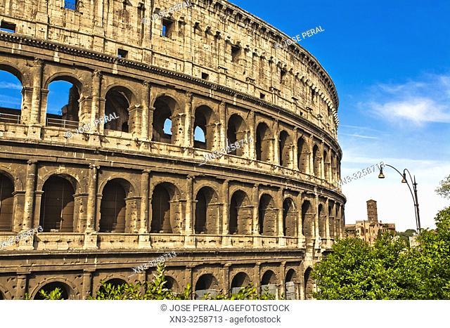 Colosseum, Coliseum, Flavian Amphitheatre, Rome, Lazio, Italy, Europe