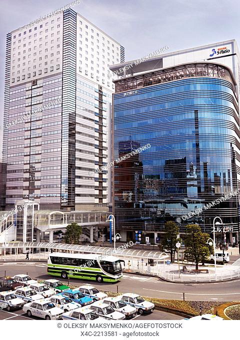 View from Shizuoka train station in Shizuoka, Japan 2014