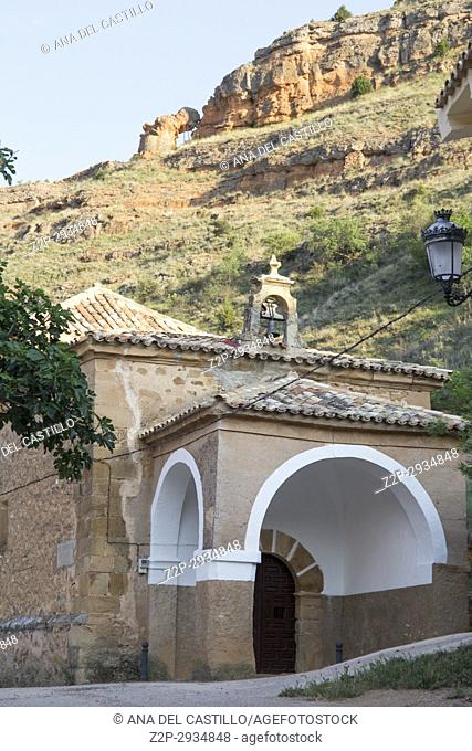 Somaen village in Soria province Castile Leon. Spain. Virgin chapel