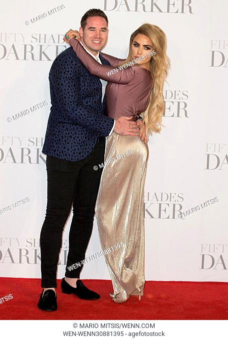 The UK Premiere of 'Fifty Shades Darker' held at the Odeon Leicester Square - Arrivals Featuring: Katie Price Where: London