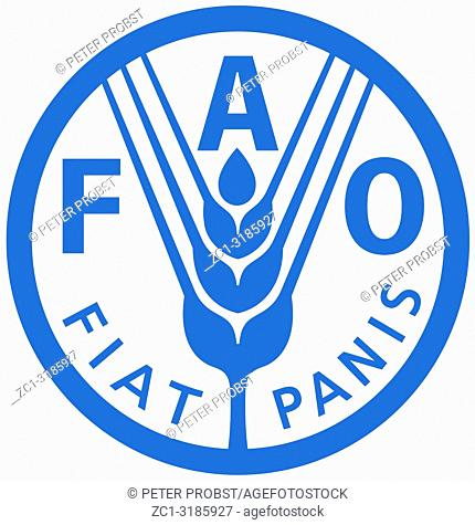 Logo of the Food and Agriculture Organization FAO with seat in Quebec