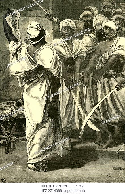 'Bagaeus Delivering His Messages to the Persian Guard', 1890. Creator: Unknown