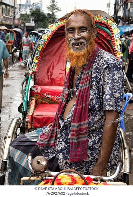 Rickshaw driver, Dhaka, Bangladesh