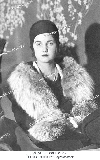Barbara Woolworth Hutton, in 1931 at age 19. She was the only child of Edna Woolworth, a daughter of Frank W. Woolworth, and Franklyn L. Hutton