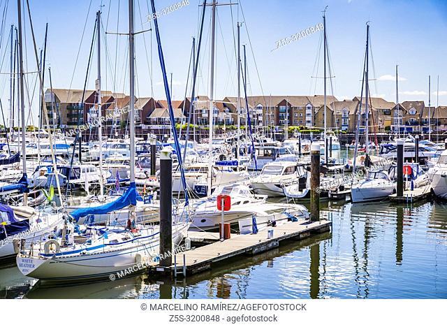 Ocean Village Marina. Southampton, Hampshire, England, United Kingdom, UK, Europe