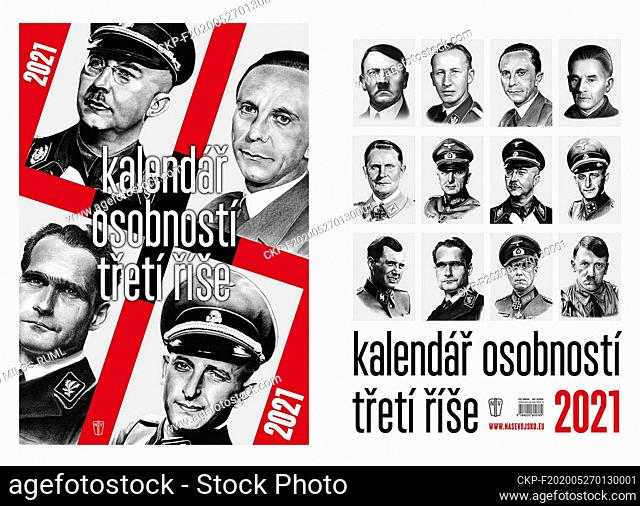 The chairman of the Holocaust Victims Fund, Michal Klima, has filed a criminal complaint against the publication of a calendar featuring Nazi leaders (pictured)...
