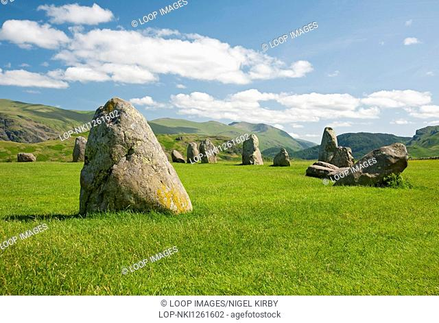 Castlerigg stone circle in summer